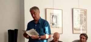 lecture à la galerie pascal lainé, dominique sorrente lit un extrait de «Palestines»/ trace de poète 2013