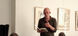 lecture à la galerie pascal lainé, Benoît Cherel lit un extrait de « Palestines »/ trace de poète 2013