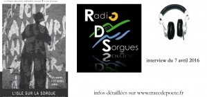 interview radio des Sorgues / 7 avril 2016