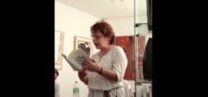 lecture à la galerie pascal lainé, Sylviane Werner lit un extrait de «Palestines»/ trace de poète 2013