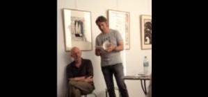 lecture à la galerie pascal lainé, Olivier Bastide lit un extrait de « Palestines »/ trace de poète 2013