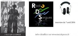 interview radio des Sorgues / 7 avril 2016